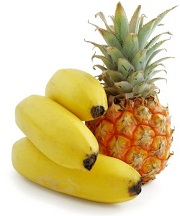 Pineapples and bananas are rich in natural melatonin